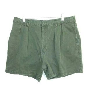J. Crew Army Green Cotton Pleated Shorts